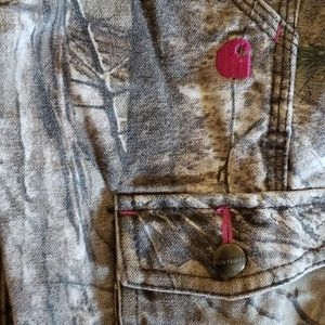 GUC Girls sz 4 Authentic Carhart Camouflaged jeans